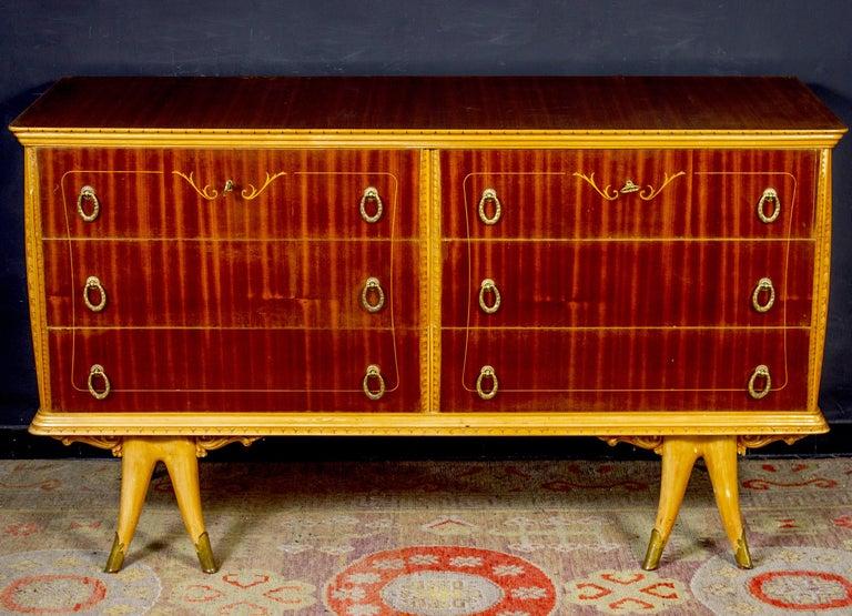 Elegant Italian Design Art Deco Commode 1940 Attributed to Osvaldo Borsani For Sale 6