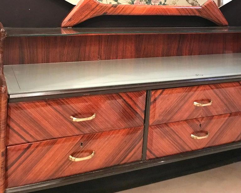 Elegant Italian Midcentury Dresser with Mirror For Sale 3