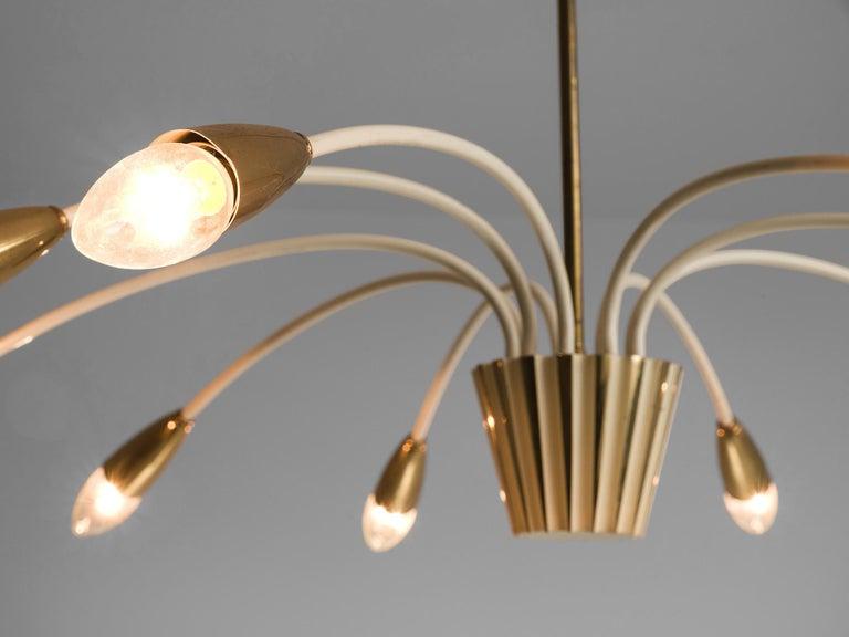Elegant Italian Pendant in Brass In Good Condition In Waalwijk, NL