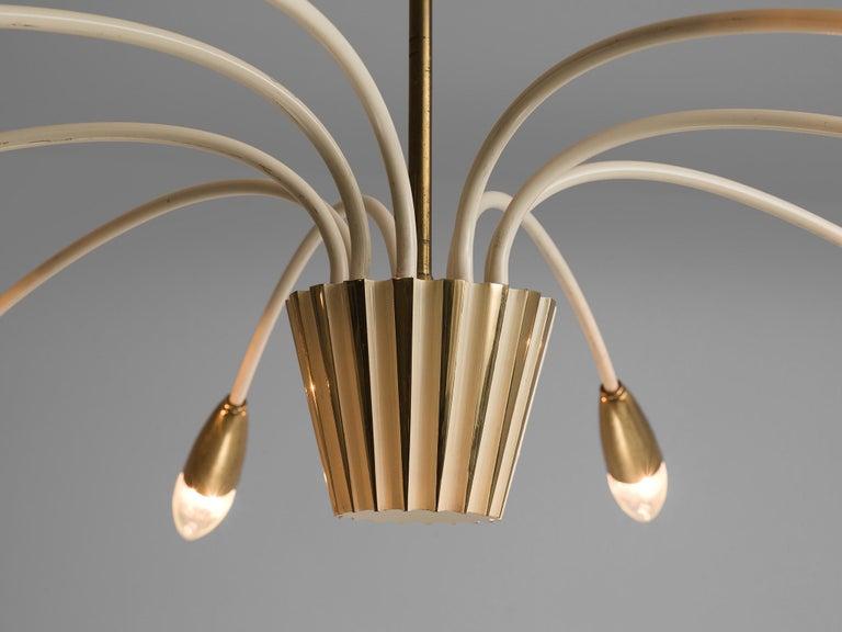 Mid-20th Century Elegant Italian Pendant in Brass