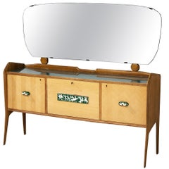 Elegant Italian Sideboard with Mirror and Dry Bar