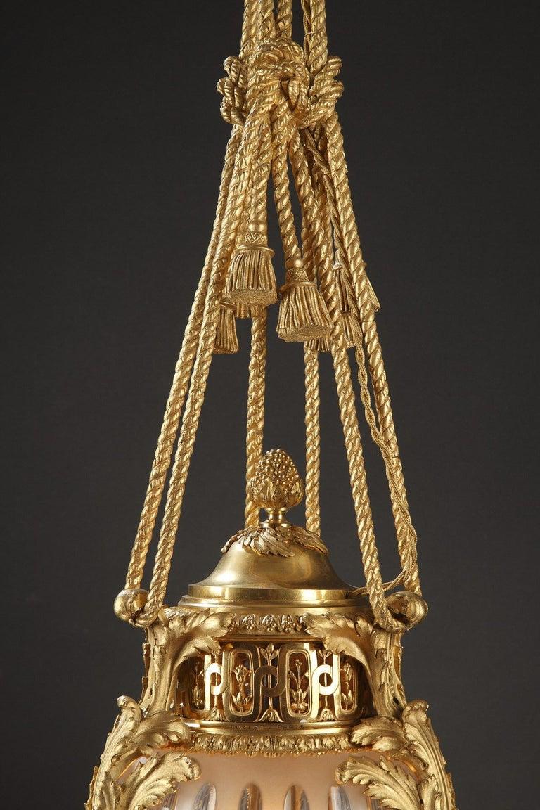 Louis XVI Elegant Lantern by Millet For Sale