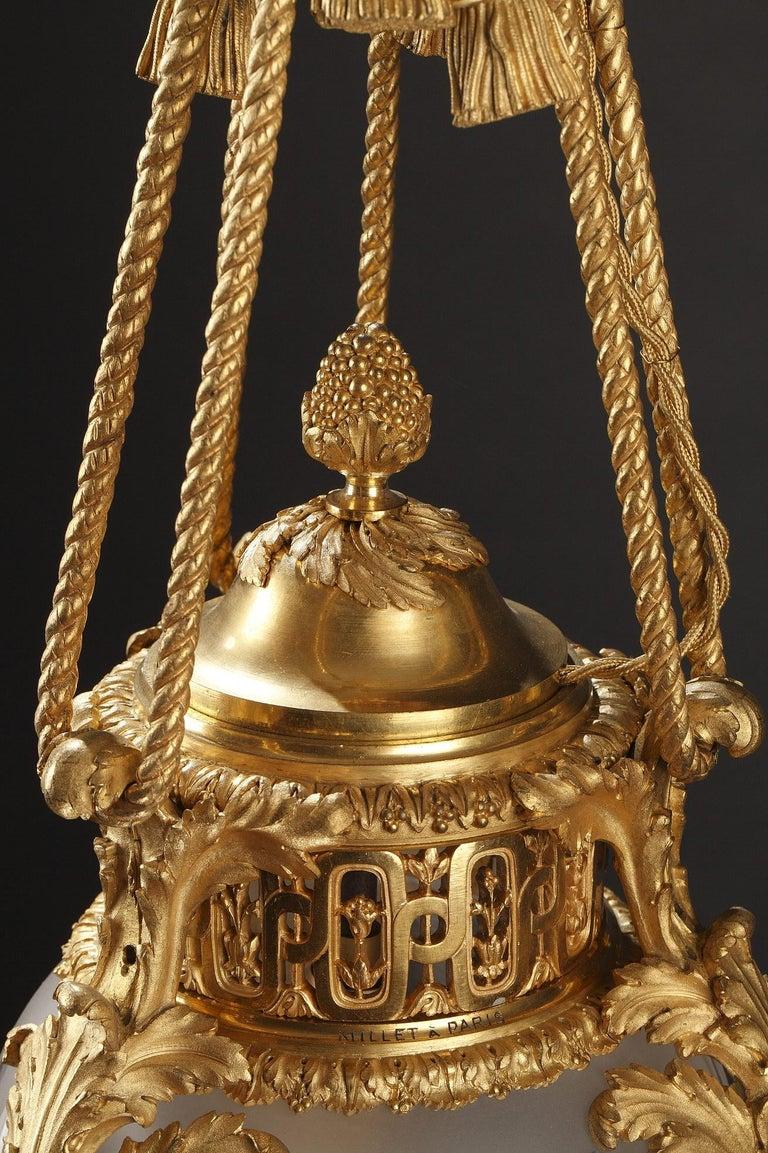 Gilt Elegant Lantern by Millet For Sale