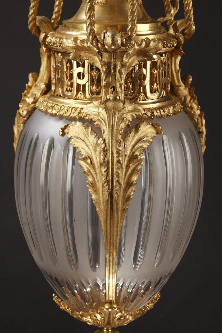 Bronze Elegant Lantern by Millet For Sale