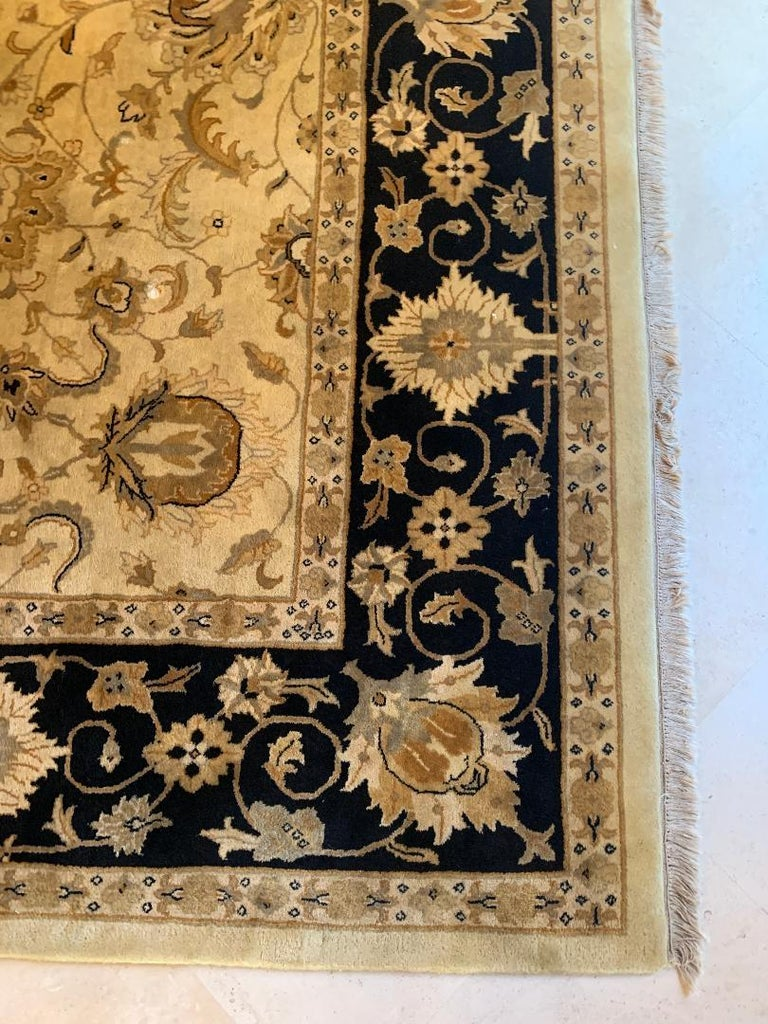 Elegant Handmade in India Wool Oriental Area Rug in the Serapi Style For Sale 2