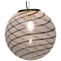 Elegant Large Tessuto Pendant Lamp by Massimo & Lella Vignelli for Venini, 1970s