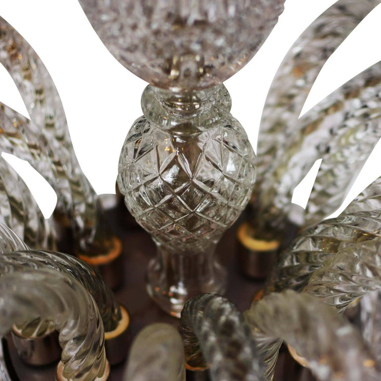 19th Century Elegant Large Two-Tier Eighteen-Arm Crystal Chandelier Draping Crystal Beading For Sale