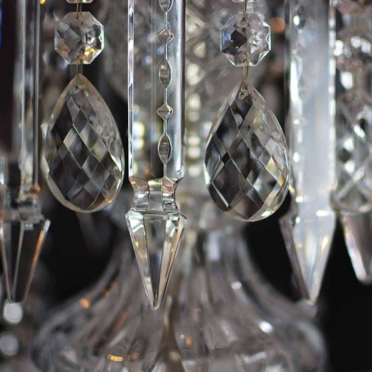 Elegant Large Two-Tier Eighteen-Arm Crystal Chandelier Draping Crystal Beading For Sale 5
