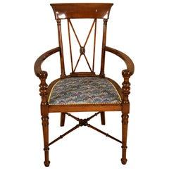 Elegant Liberty Stamped Armchair, circa 1900
