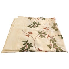 Elegant Linen and Hand Embroidered Table Cloth
