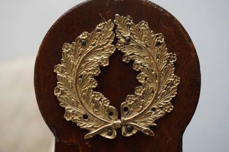 Elegant Mahogany and Gilt Bronze Empire Mahogany Settee Sofa For Sale 1