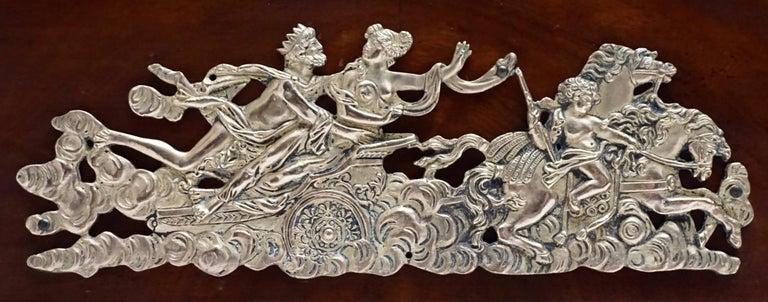 Elegant Mahogany and Gilt Bronze Empire Mahogany Settee Sofa For Sale 3