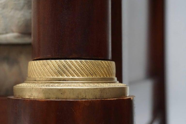 Elegant Mahogany and Gilt Bronze Empire Mahogany Settee Sofa For Sale 4