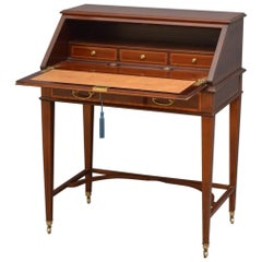 Elegant Mahogany Bureau by Maple & Co.