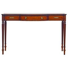 Elegant Mahogany Sheraton Style Bench Made One Drawer Console Table