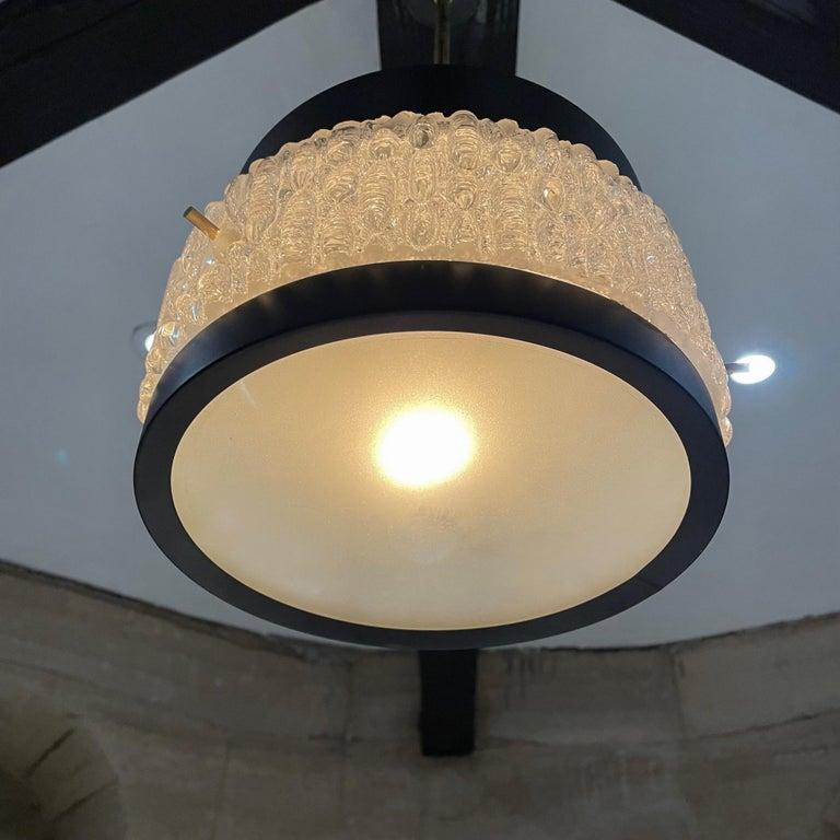 Elegant Maison Arlus French Black Crystal Chandelier Modernist France 1950s For Sale 2