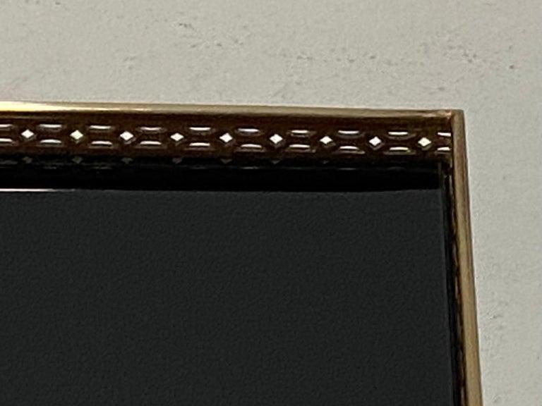 Elegant Maison Jansen Brass & Black Glass Rectangular Cocktail End Table In Good Condition For Sale In Hopewell, NJ