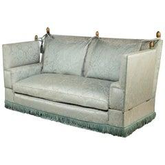 Elegant Mid-20th Century Mahogany Framed Knole Sofa