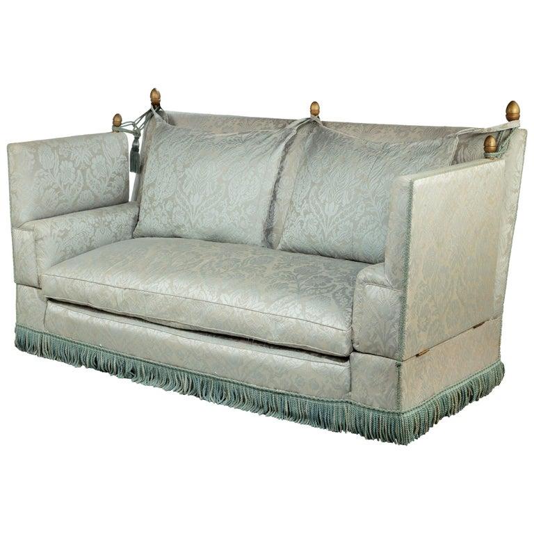 Incredible Elegant Mid 20Th Century Mahogany Framed Knole Sofa At 1Stdibs Inzonedesignstudio Interior Chair Design Inzonedesignstudiocom
