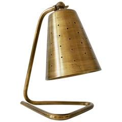 Elegant Midcentury Brass Side Table Lamp by Hans Bergström, Sweden, 1950s