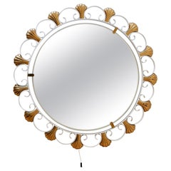 Elegant Mid-Century Modern Backlit Wall Mirror by Hillebrand, 1960s, Germany