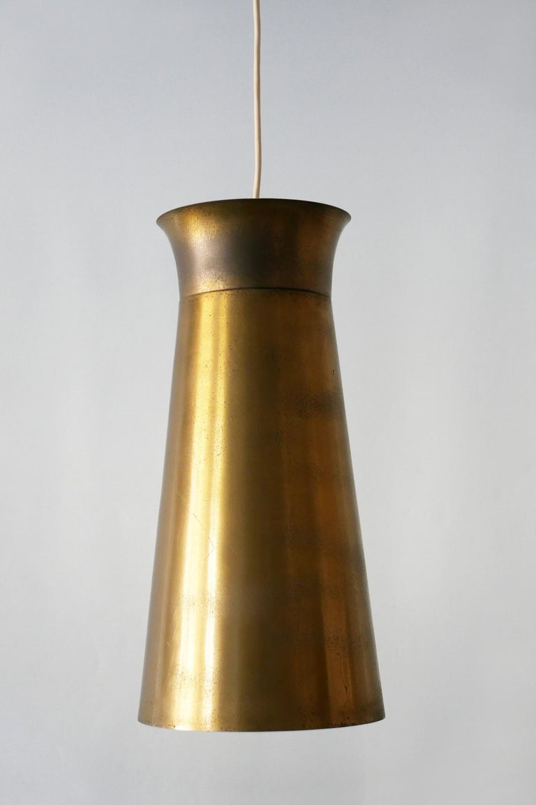 Elegant Mid-Century Modern Brass Pendant Lamps or Hanging Lights, 1950s, Germany For Sale 7