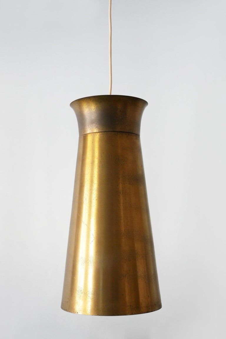 Elegant Mid-Century Modern Brass Pendant Lamps or Hanging Lights, 1950s, Germany For Sale 10