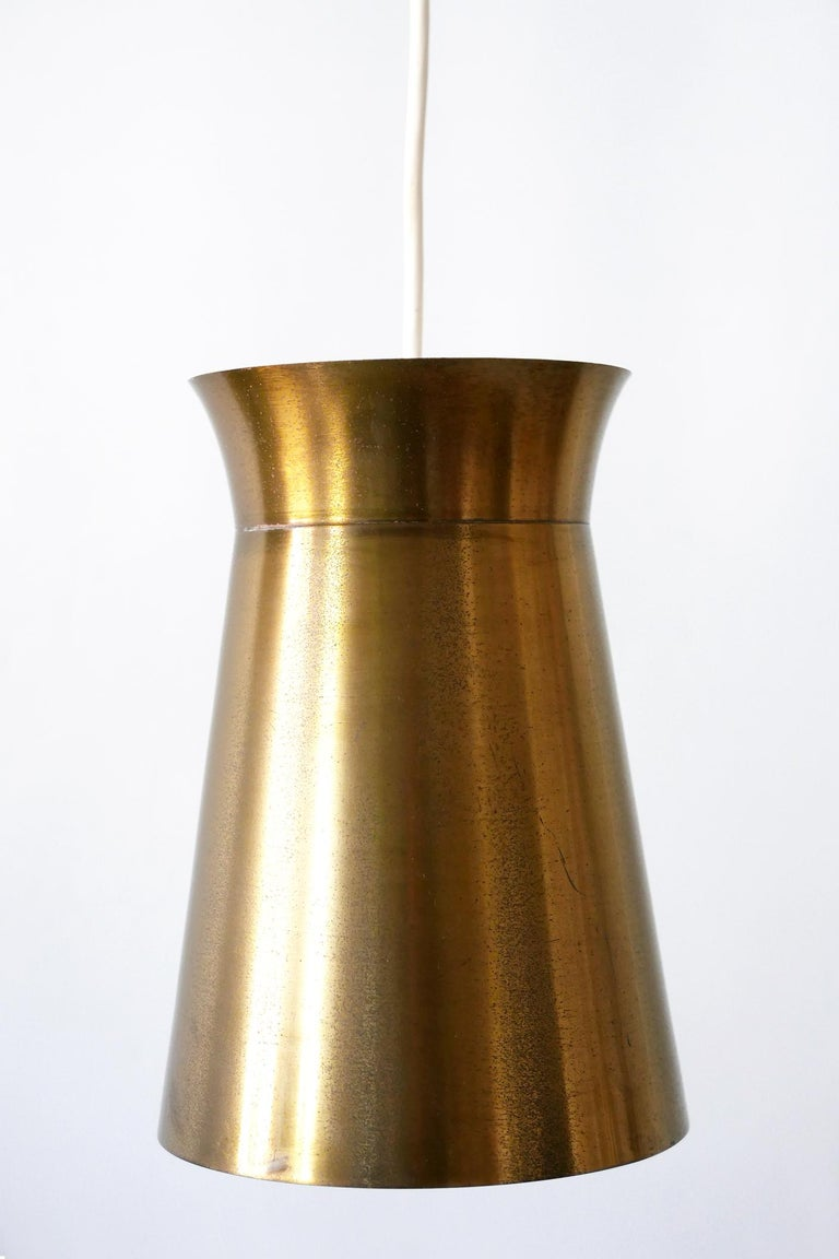 Mid-20th Century Elegant Mid-Century Modern Brass Pendant Lamps or Hanging Lights, 1950s, Germany For Sale