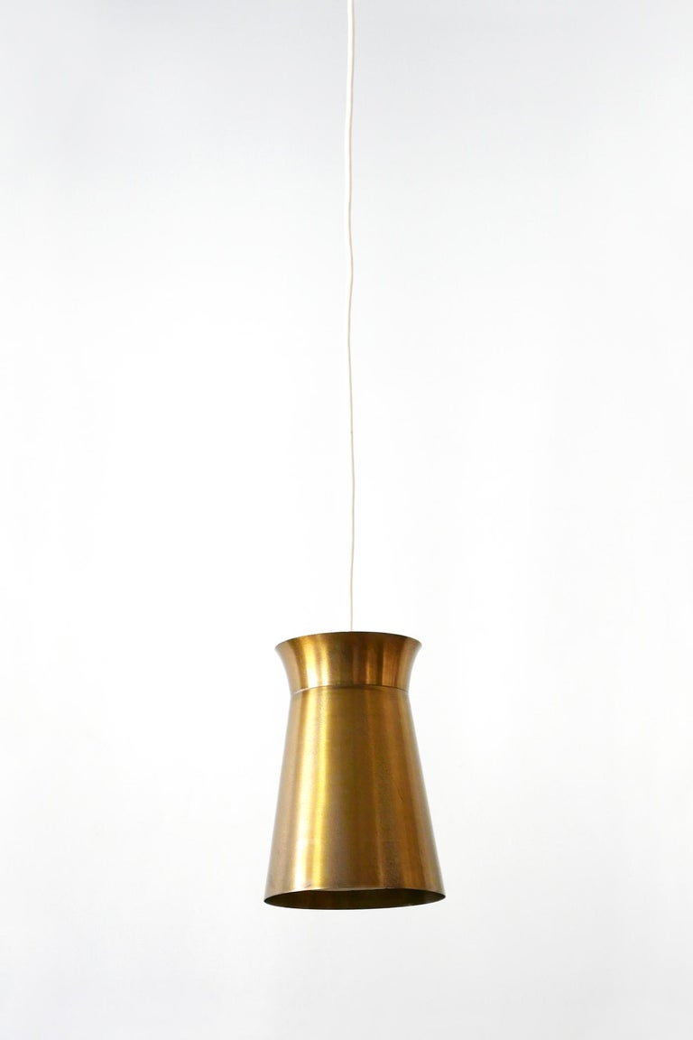 Elegant Mid-Century Modern Brass Pendant Lamps or Hanging Lights, 1950s, Germany For Sale 3