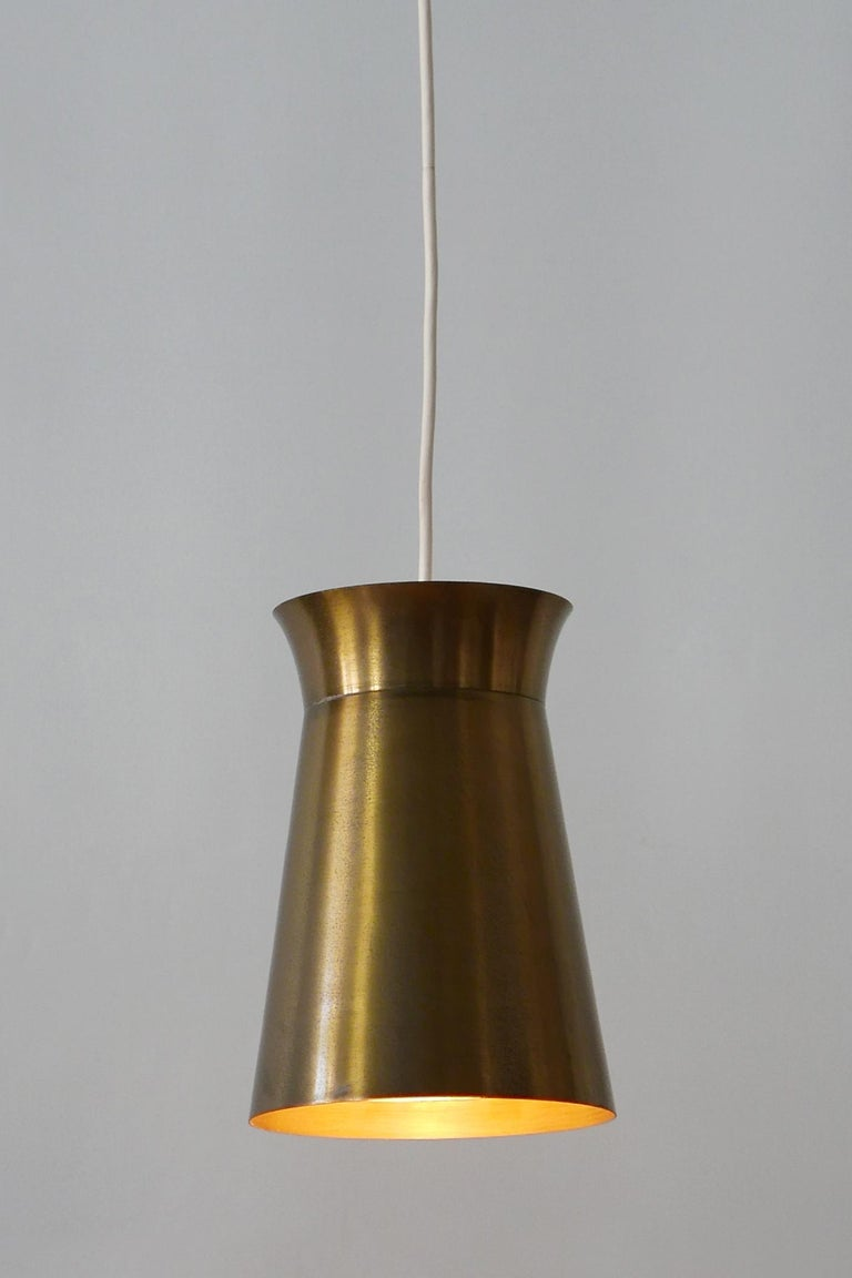 Elegant Mid-Century Modern Brass Pendant Lamps or Hanging Lights, 1950s, Germany For Sale 4