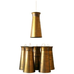 Elegant Mid-Century Modern Brass Pendant Lamps or Hanging Lights, 1950s, Germany