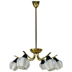 Elegant Mid-Century Modern Brass Sputnik Chandelier, 1960s, France