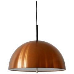 Elegant Mid-Century Modern Copper Pendant Lamp by Staff & Schwarz 1960s, Germany