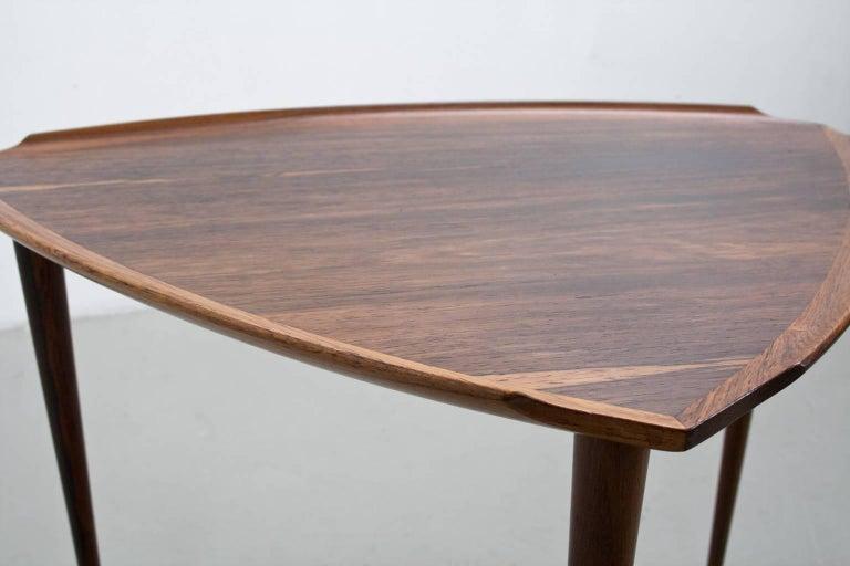 Mid-20th Century Elegant Midcentury Scandinavian Modern Nesting Tables, Denmark, 1960s For Sale