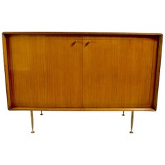 Elegant Mid Century Two-Door Chifforobe Dresser after Ponti