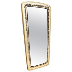 Elegant Midcentury Brass Framed Mirror, France