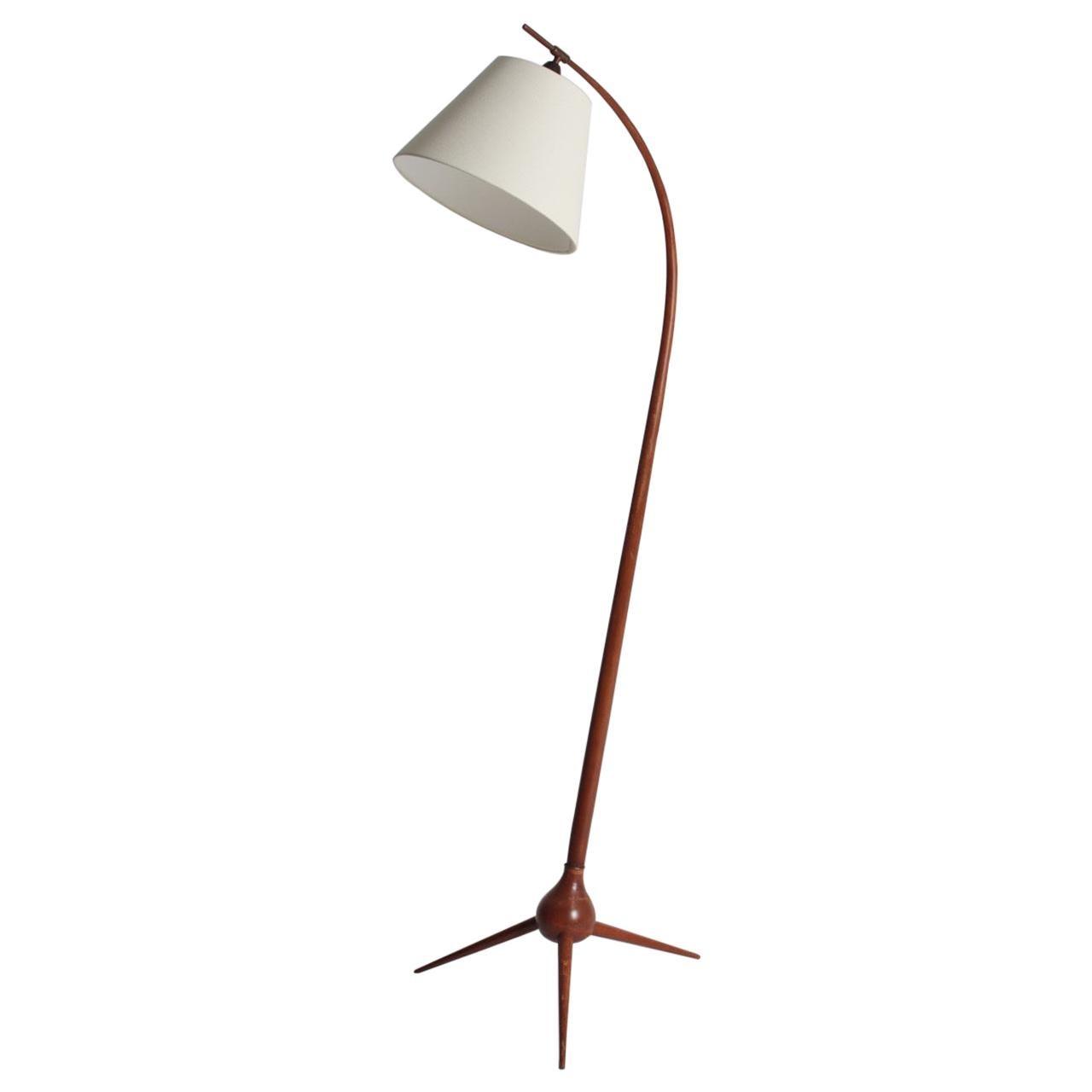 Elegant Midcentury Floor Lamp by Severin Hansen, Made in Denmark, 1950s