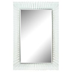Elegant Mirror with Molded Glass Frame, 1970s