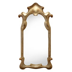 Elegant Mirror with Soft Gold Lacquer Finish, 1940s