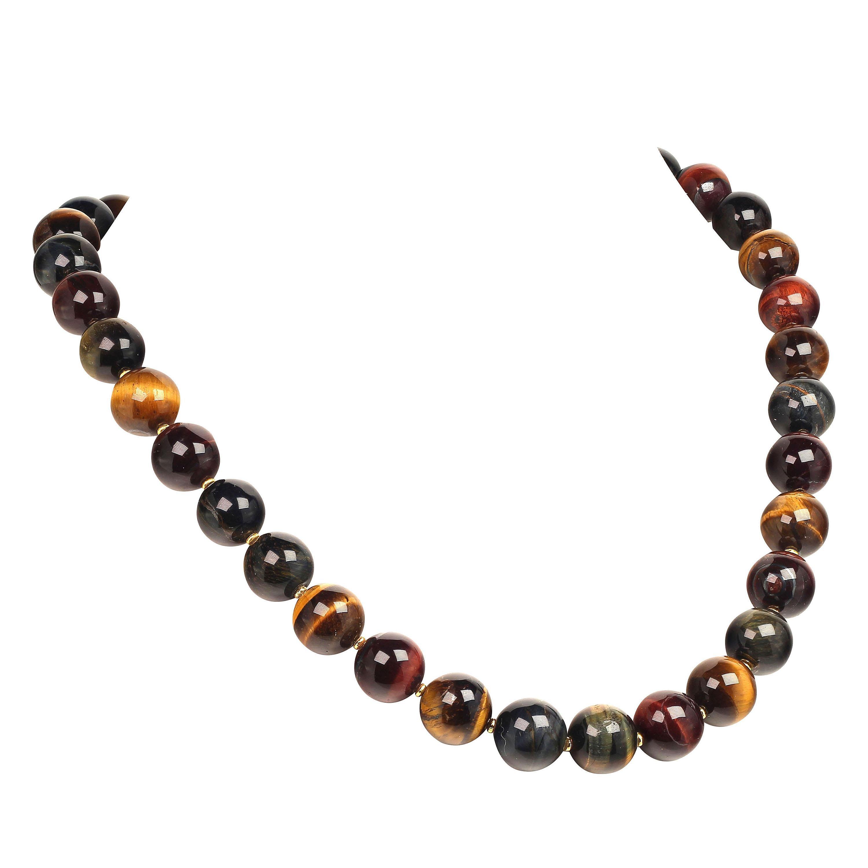 Elegant Multi-Color Tiger's Eye Necklace