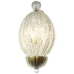 Elegant Murano Glass Chandelier