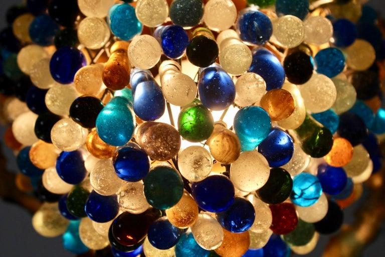 Elegant Neoclassical Murano Glass Acorn Ceiling Light, 1950s For Sale 4