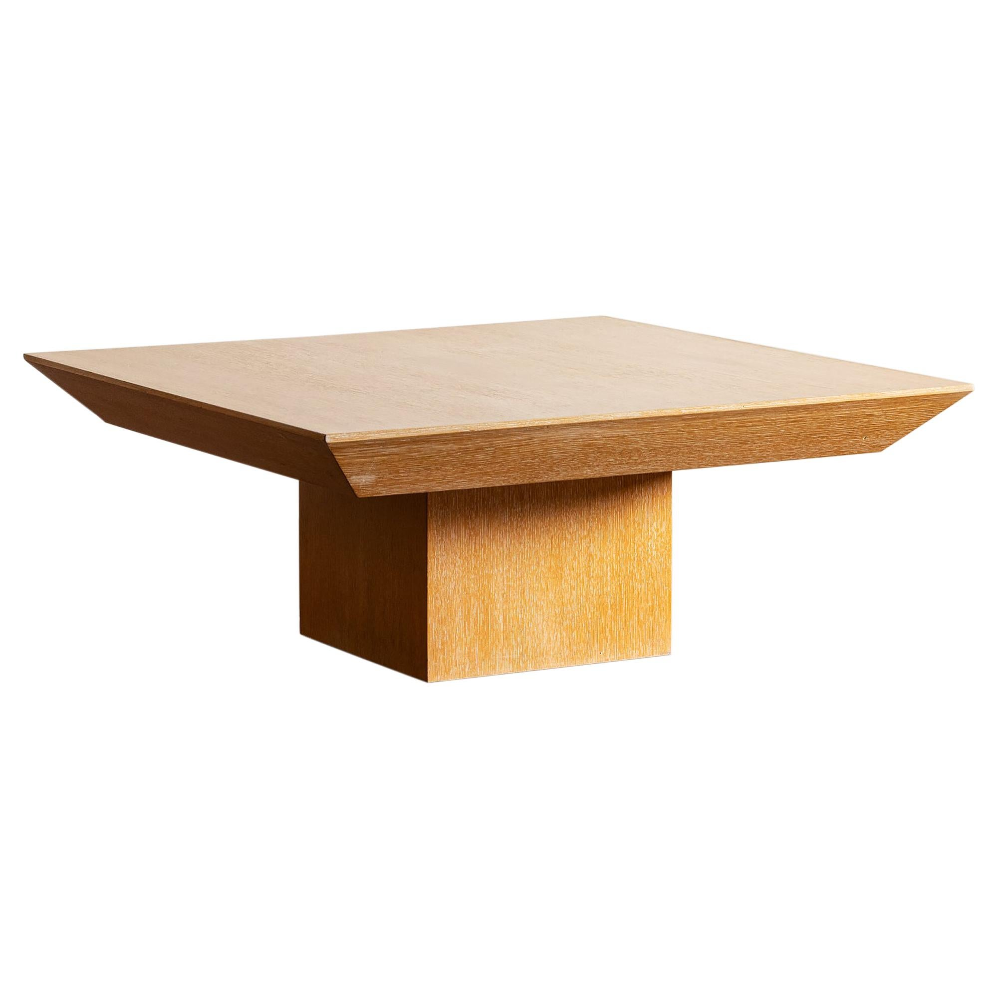 Elegant Oak Coffee Table, France, 1960s