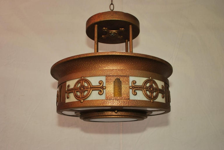 An elegant pair of light, they came from a church, we could sell one at the time, the price is for the pair.