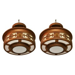 Elegant Pair of 1940's Light from Church