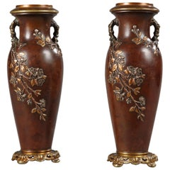 Elegant Pair of Aesthetic Movement Vases Attributed to Susse Frères