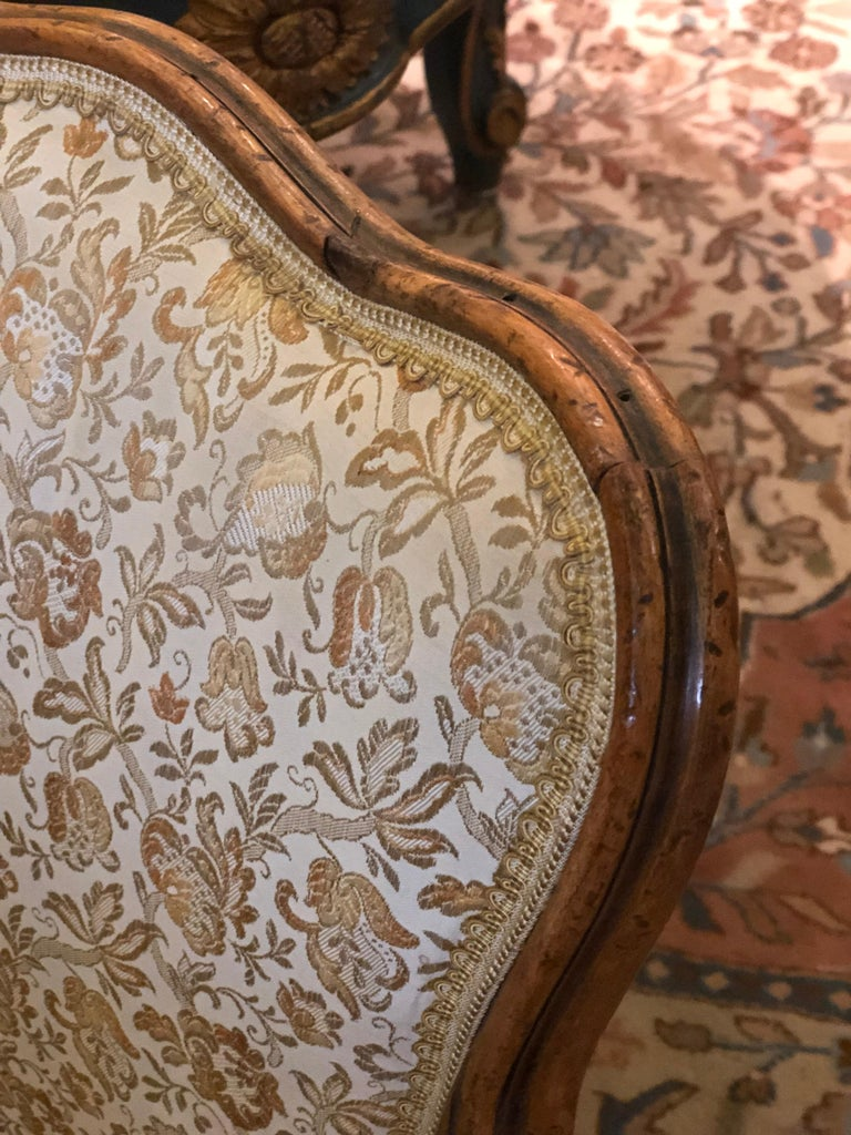 Elegant Pair of Antique French Armchairs in Louis XV Style, circa 1880 For Sale 1