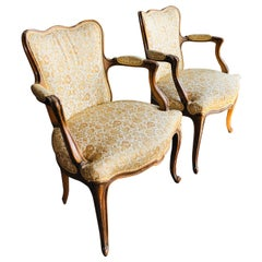 Elegant Pair of Antique French Armchairs in Louis XV Style, circa 1880