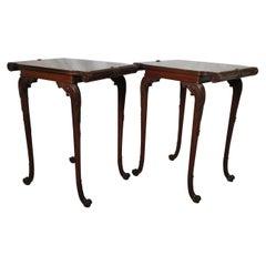 Elegant Pair of Antique Mahogany Side Tables