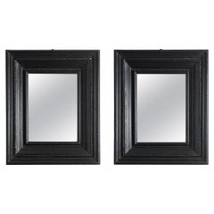 Elegant Pair of Flemish Ebonized Mirrors